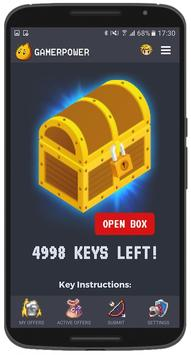 GamerPower: Android Games, Beta keys and Giveaways poster