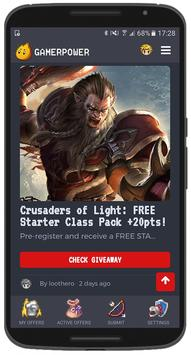 GamerPower: Android Games, Beta keys and Giveaways apk screenshot