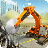 Heavy Excavator Stone Cutting icon