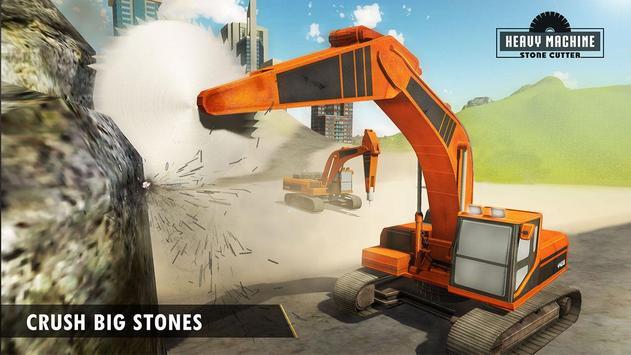Heavy Excavator Stone Cutting poster