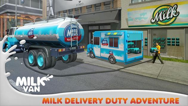 Milk Delivery Transport Truck apk screenshot