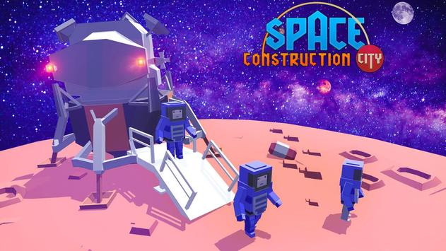 Space Construction City poster