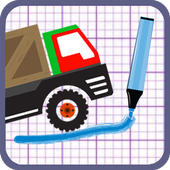 Brain on the truck physics icon