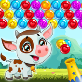 Bubble Cow Shooter - Games Pop. Blast, Shoot Free icon