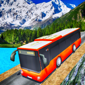 Driving Off Road Mountain Bus icon