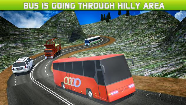 Driving Off Road Mountain Bus poster