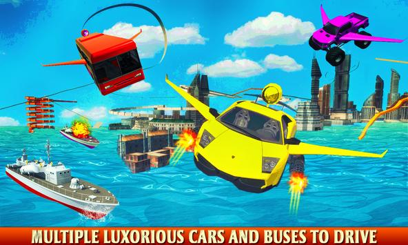 Futuristic Flying Bus Shooting poster