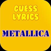 Guess Lyrics: Metallica icon