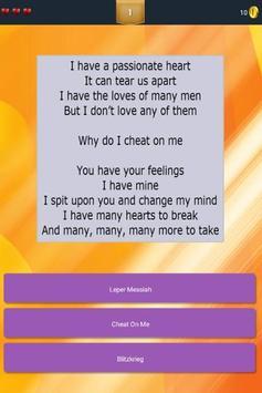 Guess Lyrics: Metallica screenshot 3
