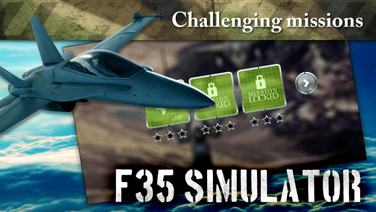 F35 Jet Fighter 3D Simulator for Android - APK Download