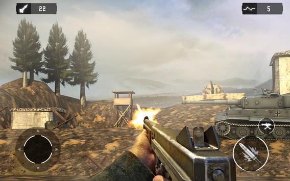 WW2 US Army Commando Unknown battleground survival screenshot 2