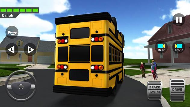Poster Super High School Bus Driving Simulator 3D - 2018