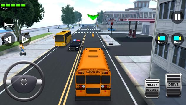 Schermata apk Super High School Bus Driving Simulator 3D - 2018
