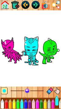 Coloring pages for PJ hero masks screenshot 1