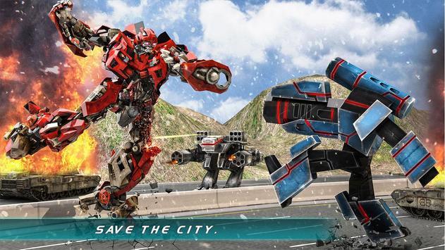Muscle Car Robot Transformation Game 2018 screenshot 8