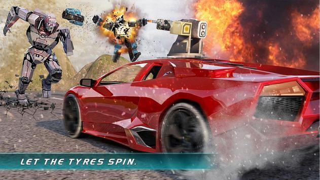Muscle Car Robot Transformation Game 2018 screenshot 9