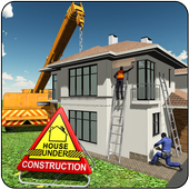 House Building Construction Games - City Builder icon