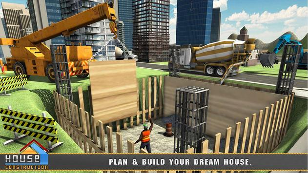 House Building Construction Games - City Builder poster