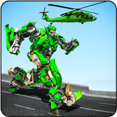 Helicopter Robot Transform icon