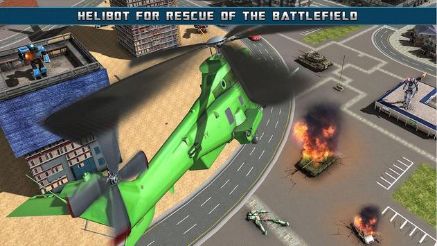 Helicopter Robot Transform screenshot 3