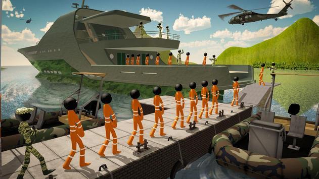 US Army Ship Transporter Game – Prisoner Transport screenshot 5