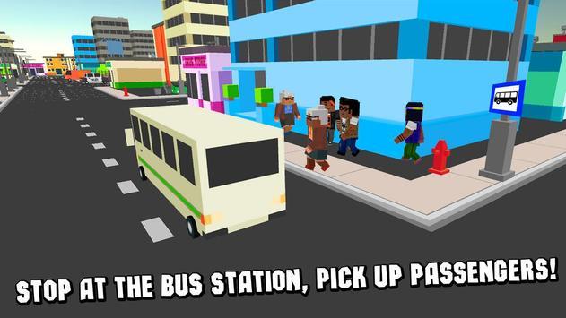 Cube City Bus Simulator 3D screenshot 1