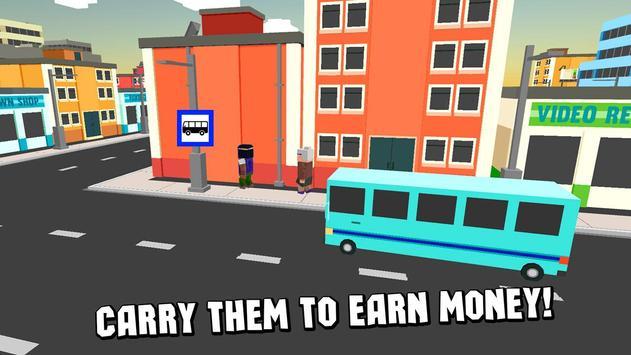 Cube City Bus Simulator 3D screenshot 2
