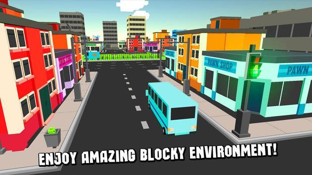 Cube City Bus Simulator 3D screenshot 7