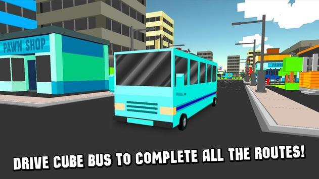 Cube City Bus Simulator 3D screenshot 8