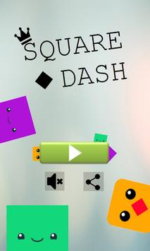 Square Dash- free players poster