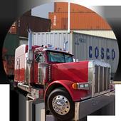 Truck Driver Cargo 3D icon