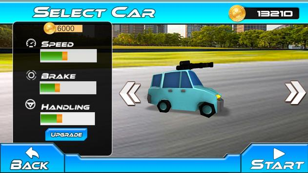 Gun Car Road Race - Kids Cartoon racing game apk screenshot