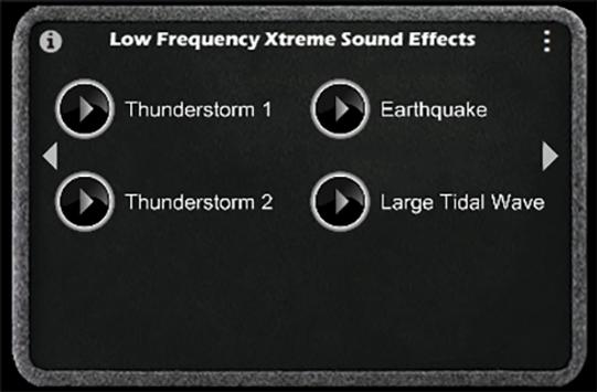 Ultra low bass frequency