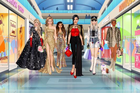 Mode Diva - Fashionista Puppen Anziehen Spiele Plakat