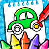 Cars Coloring Book for Kids - Doodle, Paint & Draw 图标