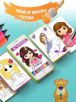 Kids coloring book: Princess free screenshot 5