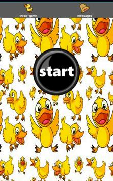 Duck Throw Game: Kids - FREE! poster
