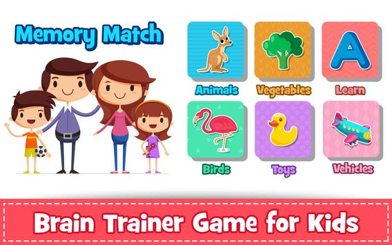 Memory Game for Kids : Animals, Preschool Learning poster