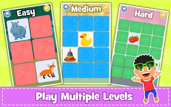 Memory Game for Kids : Animals, Preschool Learning screenshot 12