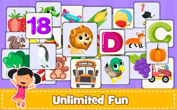Memory Game for Kids : Animals, Preschool Learning screenshot 13