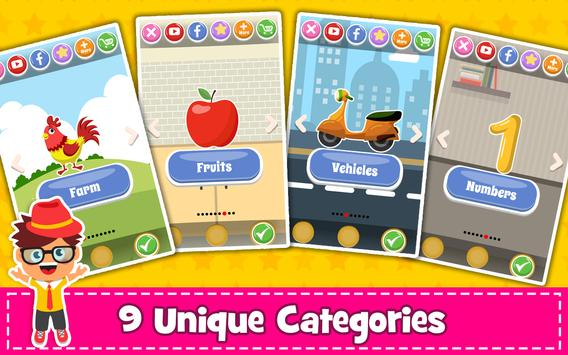 Memory Game for Kids : Animals, Preschool Learning screenshot 1