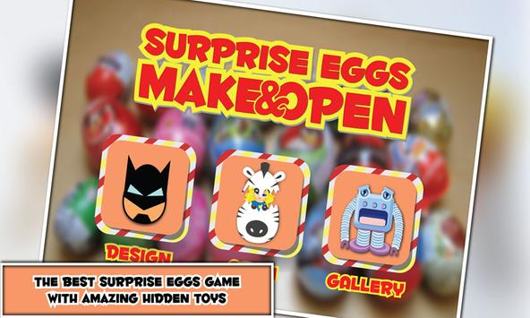 Surprise Eggs Kids Make & Open poster