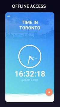 Time in Toronto, Canada poster