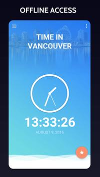 Time in Vancouver, Canada poster