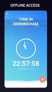 Time in Birmingham, UK poster