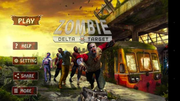 Zombie Delta Target, zombie games 2017 poster