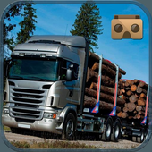 VR Wood Cargo Transporter: Offroad Truck Driver VR icon