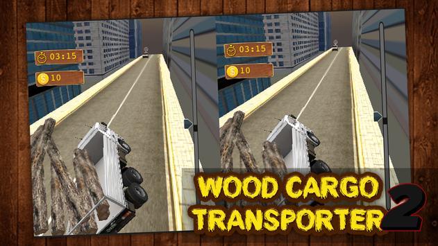 VR Wood Cargo Transporter: Offroad Truck Driver VR apk screenshot