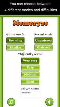 Memoryze - Brain training game apk screenshot