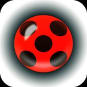 Miraculous yoyo and Fidget spinner Ladybug icon